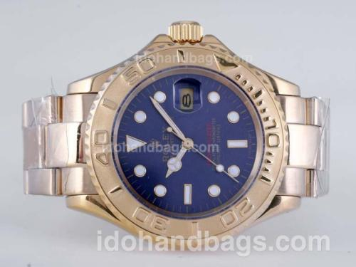 Rolex Yacht-Master Automatic Full Gold with Blue Dial 25837