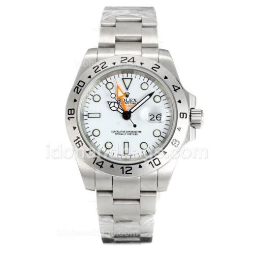 Rolex Explorer II Automatic with White Dial S/S-Same Chassis as ETA Version-High Quality 72855