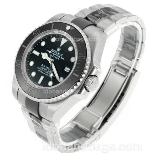 Rolex Sea-Dweller Swiss ETA 2836 Movement Two Tone Ceramic Bezel with Black Dial-Sapphire Glass 115500