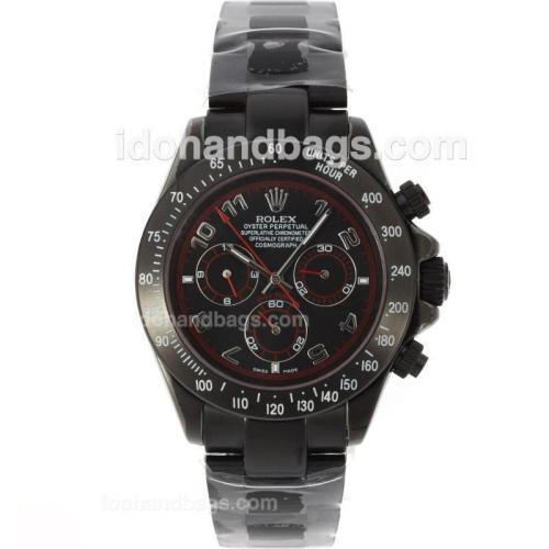 Rolex Daytona Automatic Full PVD with Black Dial 12815