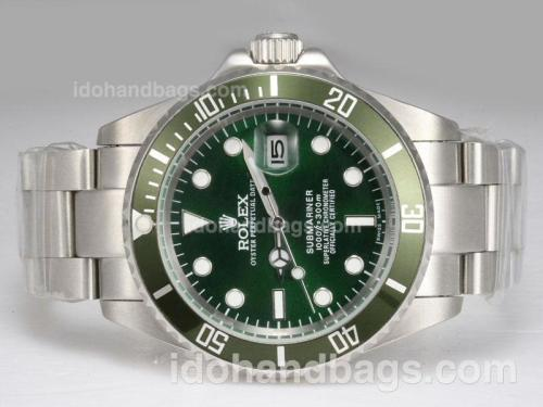 Rolex Submariner Automatic with Green Bezel and Dial 11705