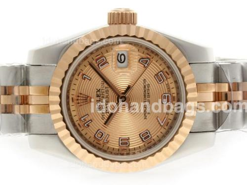 Rolex Datejust Automatic Two Tone with Rose Gold Dial-Number Marking 38501