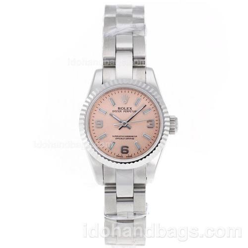 Rolex Air-King Swiss ETA 2671 Movement with champagne Dial S/S-Lady Size 72076