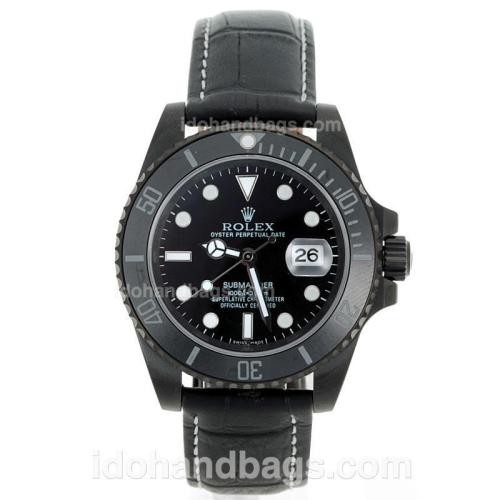 Rolex Submariner Automatic PVD Case Ceramic Bezel with Black Dial-Sapphire Glass 72399