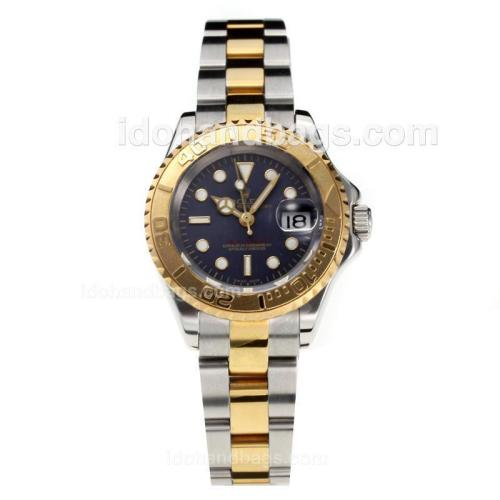 Rolex Yachtmaster Super Luminous Swiss ETA 2671 Automatic Movement Two Tone with Black Dial-Sapphire Glass 187018
