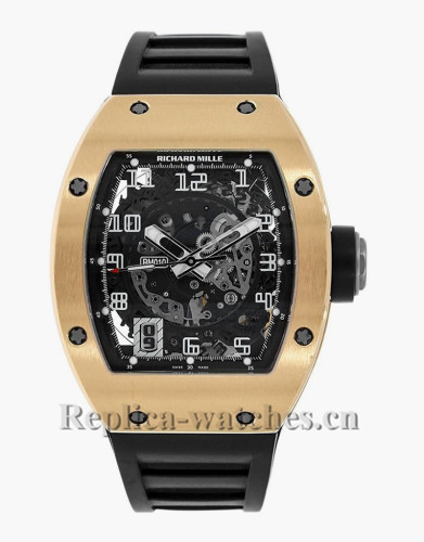 Richard Mille Rose Gold Case Skeletonised Automatic Watch RM010 AH RG