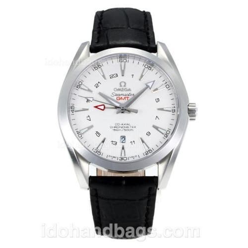 Omega Seamaster Working GMT Swiss ETA 2836 Automatic with White Dial-Sapphire Glass-Silver Markers 171454