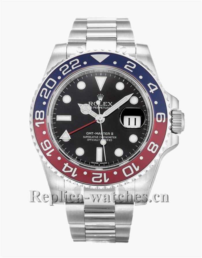 Rolex GMT Master II Stainless Steel Strap Black Dial 116719 BLRO