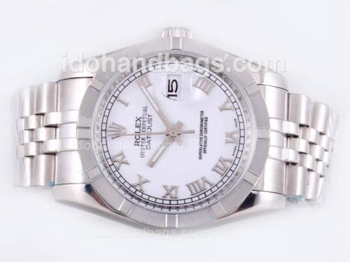 Rolex Datejust Automatic with White Dial-Roman Marking 23129