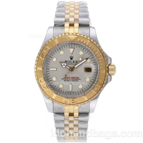 Rolex Yacht-Master Automatic Two Tone with Granite Dial 61761