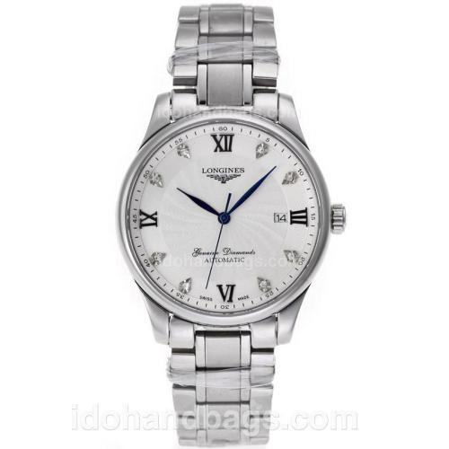 Longines Master Collection Automatic with White Dial S/S 45908