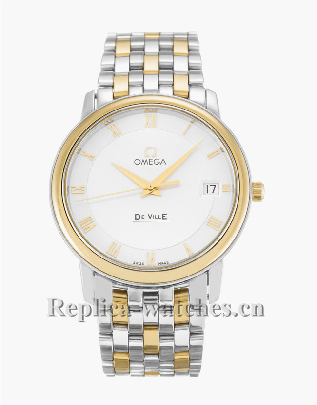 Omega De Ville Prestige Gold Bezel 34MM 4310.32.00