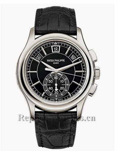 Patek Phillippe Replica Complications Platinum Flyback Chronograph 42MM Watch 5905P010
