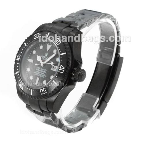 Rolex Sea Dweller Automatic Full PVD Ceramic Bezel with Black Carbon Fibre Style Dial-Same Chassis as Swiss Version 162270