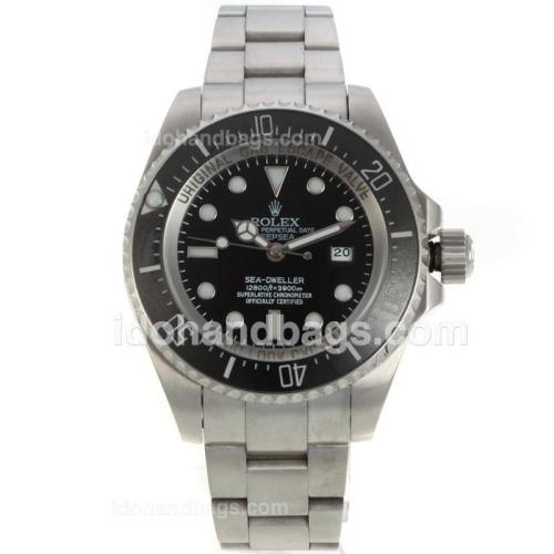 Rolex Sea Dweller Automatic Ceramic Bezel with Black Dial S/S 130718