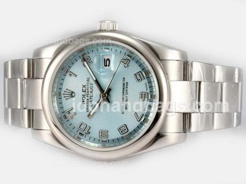 Rolex Datejust Automatic with Blue Dial-Number Marking 18198