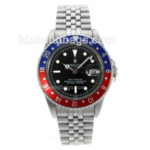 Rolex GMT-Master Swiss ETA 2836 Movement with Black Dial S/S-Vintage Edition 126782