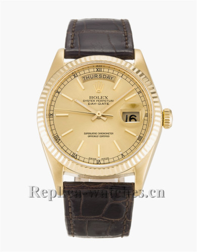 Rolex Day-Date Gold Dial 36MM 18038