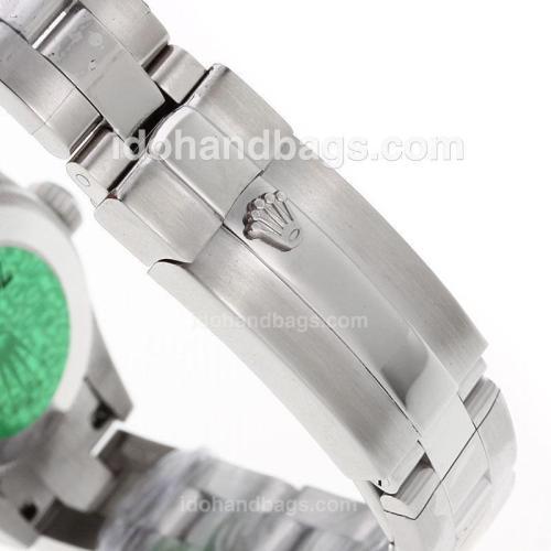 Rolex Air-King Swiss ETA 2671 Movement Roman Markes with Black Dial S/S-Lady Size 72071