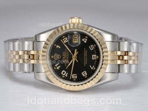 Rolex Datejust Automatic Two Tone with Black Dial-Number Marking 11873