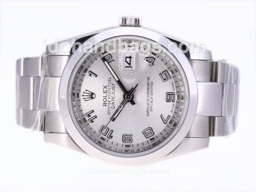 Rolex Datejust Automatic with Silver Dial-Number Marking 23550