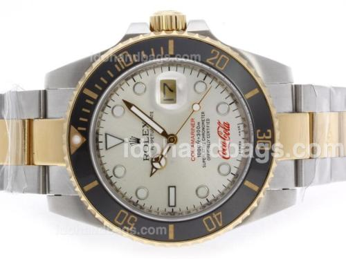 Rolex Submariner Cocacola Limited Edition Automatic Two Tone with Silver Dial-Ceramic Bezel 41104