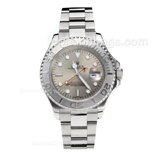 Rolex Yachtmaster Automatic Movement with Super Luminous Grey Dial S/S-Sapphire Glass 187078