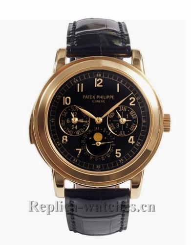 Patek Philippe Replica Grand Complications Rose Gold Perpetual Calendar Watch 5074R001
