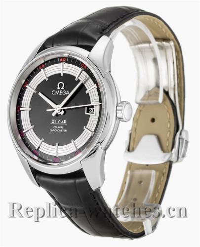 Omega De Ville Hour Vision Black Leather Strap 431.33.41.21.01.001