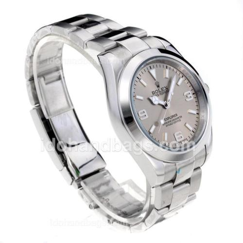 Rolex Explorer Automatic with Silver Dial S/S Oversized Version 197876