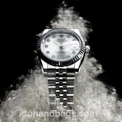 Rolex DateJust Automatic Diamond Markers with Silver Dial S/S(Extra Bracelet and Gift Box Included) 146498