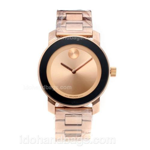 Movado Full Rose Gold with Champagne Dial 186384