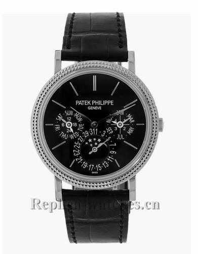 Patek Philippe Replica Grand Complications White Gold Perpetual Calendar Watch 5139G010