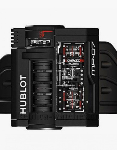 Hublot MasterPiece MP-07 Black Case 42 Days Power Reserve Replica Watch