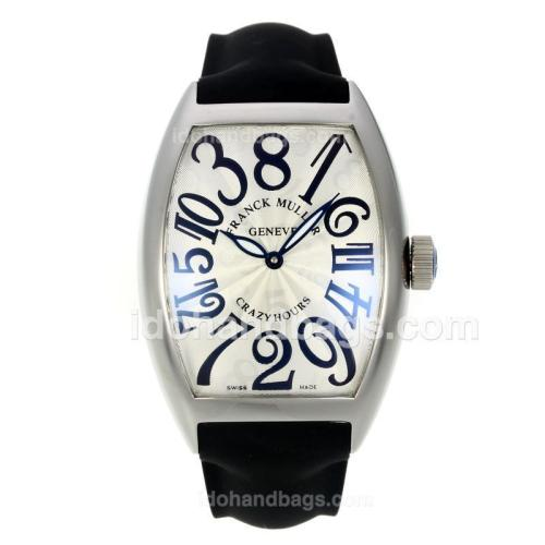 Franck Muller Crazy Hours Automatic with White Dial-Jumbo Version 32470