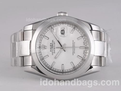 Rolex Datejust Automatic with White Dial 25779