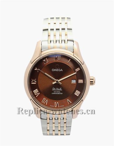 Omega De Ville Hour Vision Rose Gold Bezel 41MM