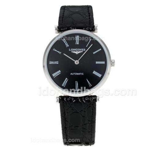 Longines La Grande Classique Automatic with Black Dial-Sapphire Glass-18K Plated Gold Movement 172806