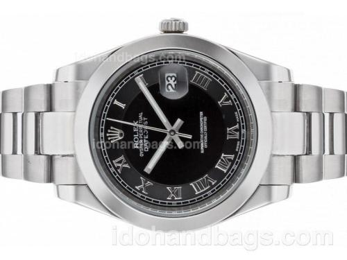 Rolex Datejust II Automatic Roman Markers with Black Dial S/S 48500