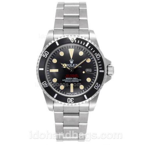 Rolex Sea-Dweller Submariner 2000 Swiss ETA 2836 Movement with Black Dial S/S-Vintage Edition 52422