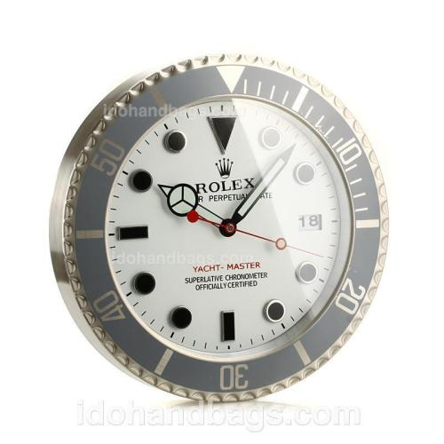 Rolex Yachtmaster Wall Clock with White Dial-Black Dot Markers 189276