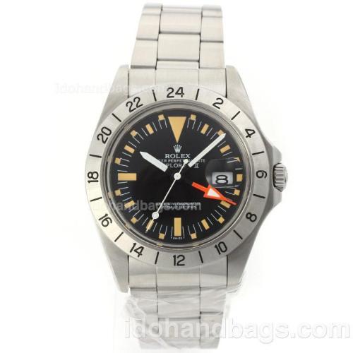 Rolex Explorer Swiss ETA 2836 Movement with Black Dial S/S-Vintage Edition 56866