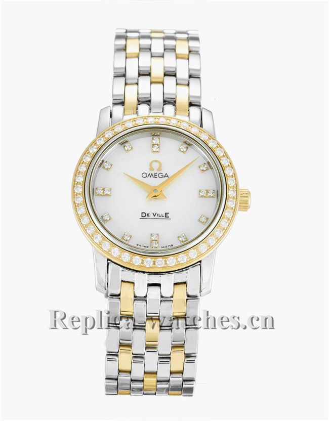 Omega De Ville Prestige Ladies White Dial 22MM 4375.75.00