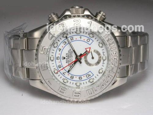 Rolex Yacht-Master II Automatic Working GMT with White Dial 10578
