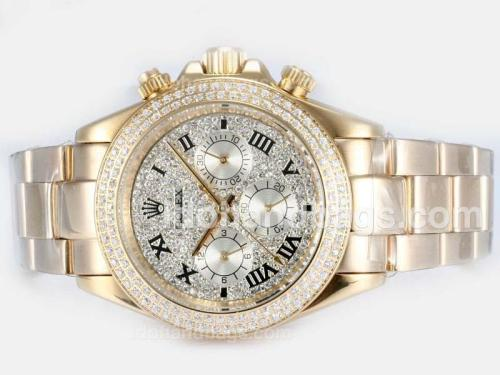 Rolex Daytona Automatic Full Gold with Diamond Bezel and Dial 16240