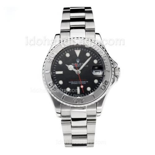 Rolex Yachtmaster Swiss ETA 2836 Movement with Super Luminous Black Dial S/S-Sapphire Glass 187050
