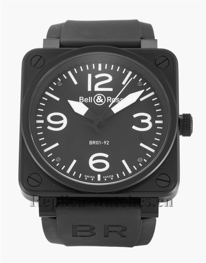 Bell and Ross Black Rubber Strap BR01-92 Carbon