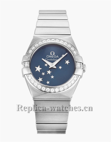 Omega Constellation Ladies Blue Dial 24MM 123.15.24.60.03.001