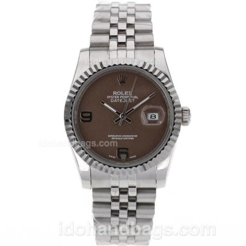 Rolex Datejust Automatic With Brown Dial S/S 80485