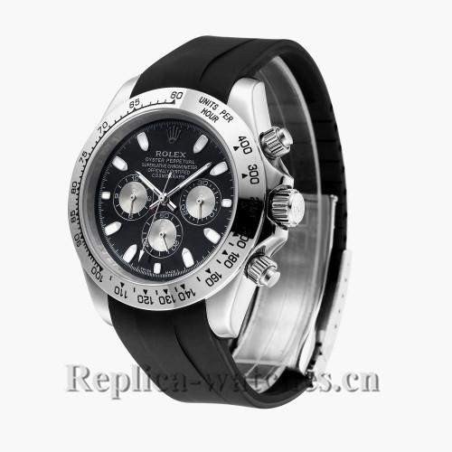 Rolex Daytona Automatic Black Dial with Black Rubber Strap